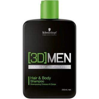 Schwarzkopf 3D MEN Hair&Body Vlasový a telový šampón 250ml