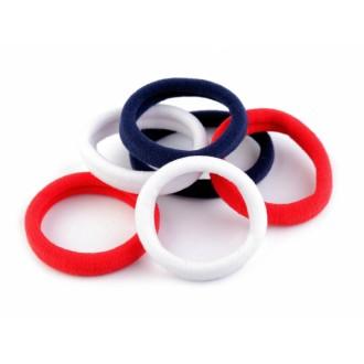 Pevné gumičky červeno-bielo-modrý mix 6ks