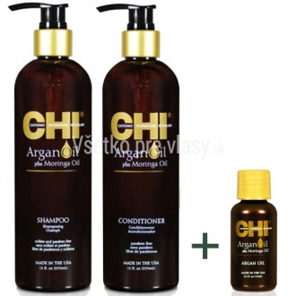 CHI Argan Oil šampón a kondicionér + ZADARMO Argan oil 15ml