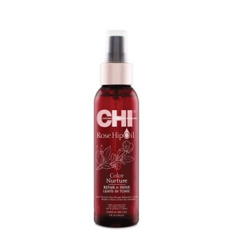 CHI Rose Hip Oil Repair & Shine Leave-In Tonic Bezoplachové ošetrujúce tonikum 118ml