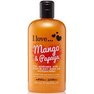 I Love Sprchový gél a pena do kúpeľa Mango and Papaya 2V1 500ml