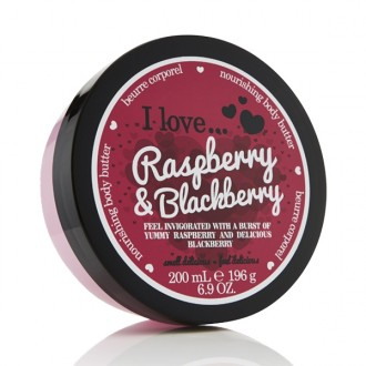 I Love Raspberry and Blackberry výživné telové maslo 200ml