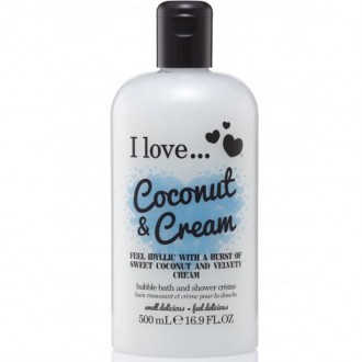 I Love Sprchový gél a pena do kúpeľa Coconut & Cream 2V1 500ml